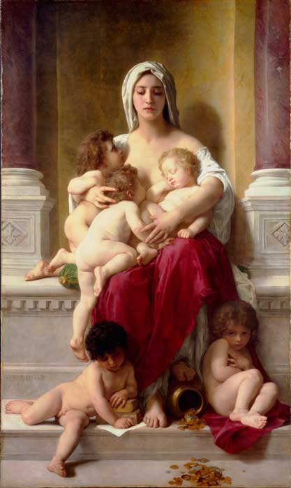 La Caridad, de Adolfo Bouguereau