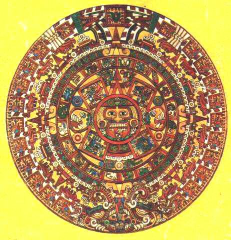 Calendario Azteca  Piedra Del Sol  Cultura Azteca