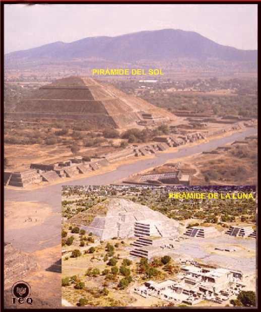 Pirámide Del Sol Y La Luna Teotihuacan