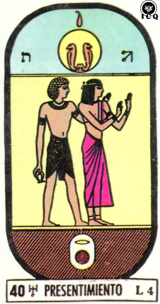 Arcano Del Tarot Numero 40  Presentimiento  Gnosis
