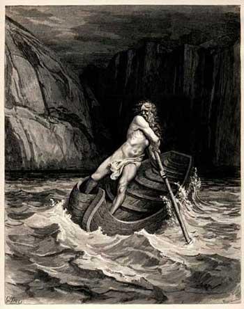Barca de Caronte. Gustavo Doré