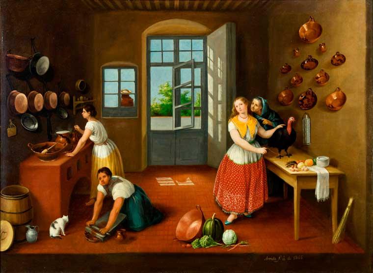 José Agustín Arrieta Nombre: La cocina Poblana año: 1865